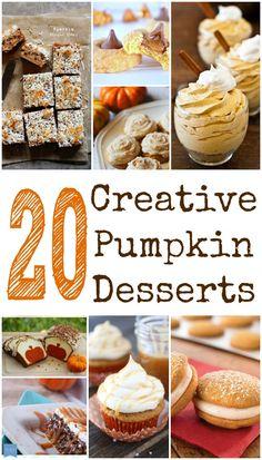 20 Non-Traditional Pumpkin Dessert Recipes Creative Pumpkin Dessert Recipes for Thanksgiving Day #pumpkin #thanksgiving #fall