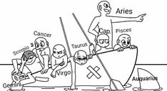 draw the squad - Drawing Tips Zodiac Signs Horoscope, Zodiac Star Signs, Zodiac Art, Aries Zodiac, Astrology Signs, Draw The Squad, Zodiac Funny, Zodiac Memes, Taurus Memes