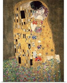 Gustav (1862-1918) Klimt Poster Print Wall Art Print entitled Der Kuss, None