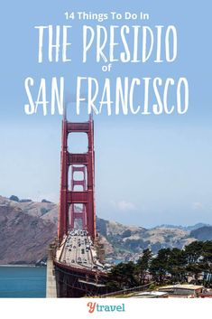 San Francisco Travel. The Presidio Park is one of the best places to visit in San Francisco near the Golden Gate Bridge but away from the hustle of downtown. Here are 14 things to do in The Presidio, plus tips on where to stay (hotels and campgrounds) and how to get there. Tips for great attractions, beautiful views for the best photography, museums and more. Don't miss this California attraction with kids  #California #SanFrancisco #usatravel #californiatravel #familytravel #sanfranciscobayarea