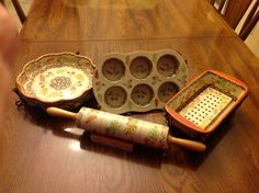 My new Old World Harvest baking set.