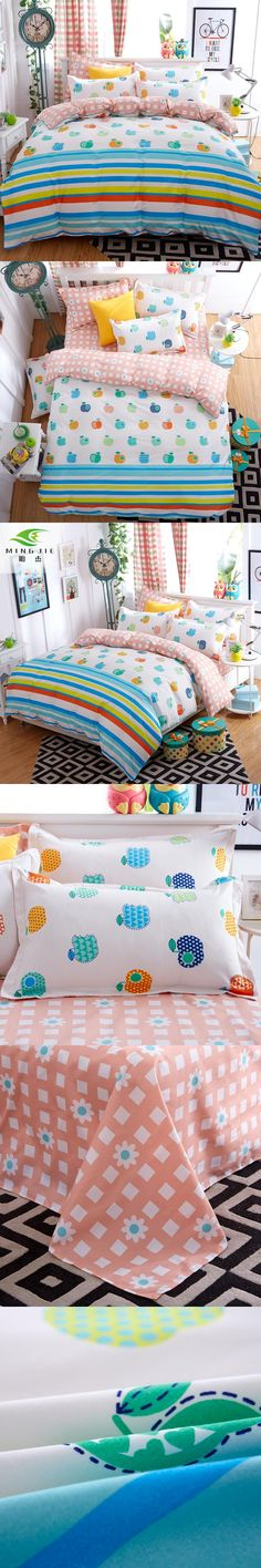 Fruit Reactive Print Bedding Sets Double-sided Pattern Bedding Set Single Twin Full Queen King Bedding for Kids Adult Bedroom
