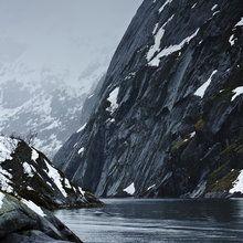 Fototapete - Trollsundet in Lofoten, Norway