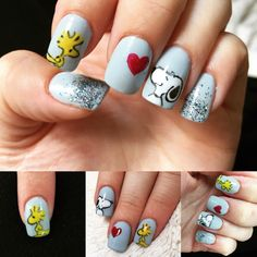 Snoopy nails My childhood has been reimagined Snoopy Nails, Kawaii Nails, Nails For Kids, Manicure Y Pedicure, Brown Nails, Disney Nails, Toe Nail Designs, Cute Nail Art, Toe Nails