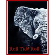 Painting of Elephant painting Roll Tide art PRINT from original painting 11x14 on Etsy, $15.00