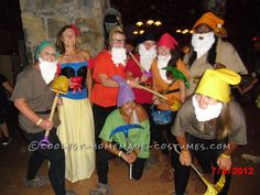 Snow White and the 7 Dwarfs Group Costume... This website is the Pinterest of costumes
