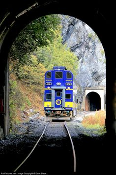 When they say the Alaska Railroad travels through mountains, sometimes they mean it literally.