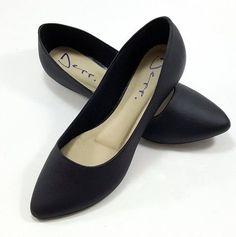 543c6869a Sapatilha Basica Feminina Bico Fino Lisa - Deep calçados