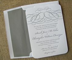 letterpress invitations we could have ashley and mark do this! :) blue ink and blue envelopes.