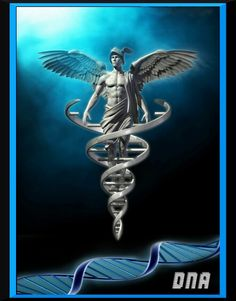 """Understanding the Caduceus The Caduceus is an ancient symbol that represents the manner in which bio-energy flows within the human body. There is absolutely nothing """"mystical"""" or """"supernatural"""". Greek God Tattoo, Spartan Tattoo, Greek Mythology Tattoos, God Tattoos, Emotional Photography, Greek Gods And Goddesses, Hermes, Witch Art, Ancient Symbols"""