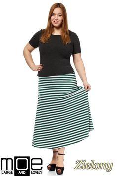 Spódnica w pasy długości maxi marki MOE.  #cudmoda #moda #styl #ubrania #spódnice #rucke #clothes #odzież