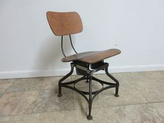 Vintage Industrial Toledo Drafting Desk Bentwood Side Chair Mid Century Mid Century Chair, Antique Chairs, Vintage Industrial, Drafting Desk, Side Chairs, Stool, Antiques, Furniture, Home Decor