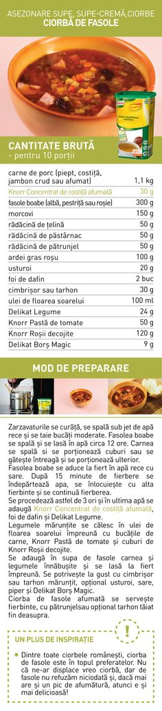 Asezonare supe, super-crema, ciorbe (II) - RETETE Supe, Food, Ham, Essen, Meals, Yemek, Eten