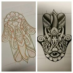 Hamsa hand tattoo design by thirteen7s on DeviantArt