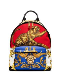 Shop Versace multicoloured baroque printed backpack. World Of Fashion e4380ca1846