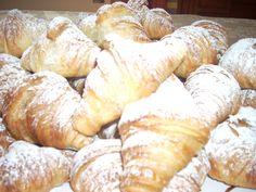 The coffee-break: soft, hot croissant prepared by chef Aldo