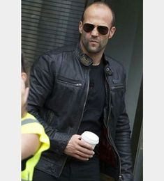 our store for genuine lambskin leather jacket at affordable prices!Check-out our store for genuine lambskin leather jacket at affordable prices! Jason Statham Family, Jason Stathom, Statham Movies, Top Hollywood Actors, Bald Men Style, Celebridades Fashion, Beard No Mustache, Good Looking Men, Leather Jacket
