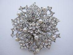 Crystal wedding brooch,rhinestone bridal brooch,wedding accessories,wedding comb,bridal hair comb,bridesmaid gift,wedding hair comb,bridal. $35.00, via Etsy.