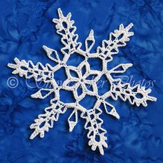 Solstice Snowflake crochet pattern Lots of snowflakes here Crochet Snowflake Pattern, Crochet Stars, Crochet Snowflakes, Crochet Cross, Crochet Stitches Patterns, Christmas Snowflakes, Thread Crochet, Crochet Motif, Crochet Doilies