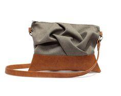 Brown Satchel Boho Messenger Bag Sand Crossbody Purse Brown