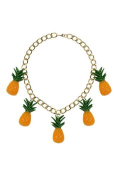 Chunky Chain Pineapple Necklace - Jewellery - Bags & Accessories