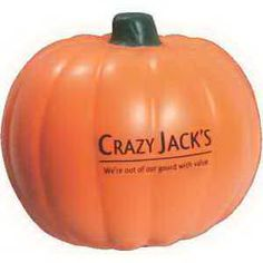 Pumpkin Stress Reliever - Pumpkin shape stress reliever.