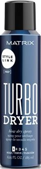 May's product spotlight is from the @matrixfamily  new #StyleLink collection of styling products. TURBO DRYER Blow Dry Spray is Your link to a fast and easy profesionnal blow dry. Fast drying agents tame frizz and fly aways while prepping for any smooth style. 2x faster blow-dry *based on professional usage and observation of 75 stylists in a 4-week study. Spray evenly on damp hair and Blow dry as usual to experience  Instant drying, increased gliding and beautiful, soft hold all day long.