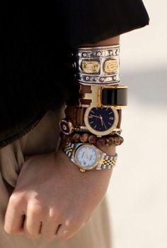 Étnicas, clásicas, atrevidas, lujosas, de plástico... ¡Busca y encontráras...!Arm Candy Pariscityka Coqueta!! Bracelets and Watches...