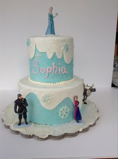 You have to see Disney Frozen Cake on Craftsy! - Looking for cake decorating project inspiration? Check out Disney Frozen Cake by member - via Disney Frozen Party, Frozen Birthday Party, Buy Birthday Cake, Happy Birthday, Cake Designs For Girl, Simple Cake Designs, Bolo Frozen, Frozen Themed Food, New Cake