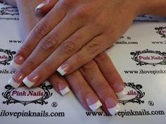 Glitter French Acrylic Nails