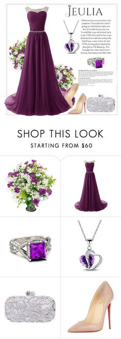 """""""Best jewerly look"""" by mell-2405 ❤ liked on Polyvore featuring Anja, Christian Louboutin, women's clothing, women's fashion, women, female, woman, misses, juniors and Silver"""