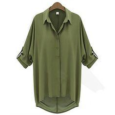 Hem Asym Chiffon das mulheres camisa – EUR € 14.35