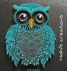 Quilled paper art colourful owl handmade artwork paper wall art home decor wall decor home decoration quilled art – Artofit Paper Quilling Tutorial, Paper Quilling Patterns, Quilled Paper Art, Quilling Paper Craft, Quilling Ideas, Arte Quilling, Origami And Quilling, Owl Crafts, Paper Crafts