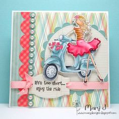 Vespa babe! by maryj68 - Cards and Paper Crafts at Splitcoaststampers