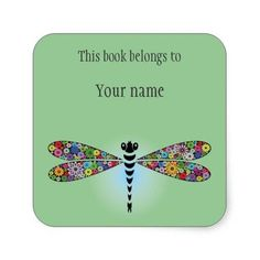 Personalized Dragonfly Sticker Bookplate http://www.zazzle.com/personalized_dragonfly_sticker_bookplate-217135521511367241?rf=238756979555966366&tc=PtMPrssKRMbookplateStick                                       Personalized Dragonfly Sticker Bookplate      $5.25   by  SjasisDesignSpace