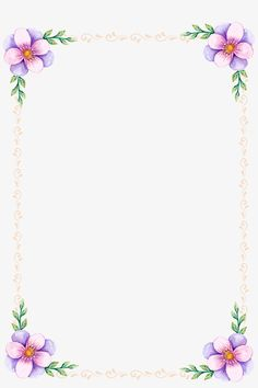 Frame Border Design, Boarder Designs, Page Borders Design, Flower Border Png, Floral Border, Borders For Paper, Borders And Frames, Molduras Vintage, Sunflower Wallpaper