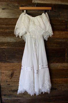 Popular Vintage Mexican Dress Bridal Shower Dress Beach Wedding Dress by BJBVINTAGE on Etsy
