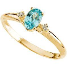 Bonyak Jewelry 14k Yellow Gold Imitation Alexandrite June Youth Birth Month Stone Ring Size 3