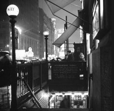 Old Images of New York  Times Square Subway entrance 1942