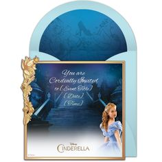 Free Cinderella invitation | The Disney Online Invitation Collection. Perfect for inviting friends to see the premiere, or a Cinderella birthday party! #cinderella
