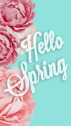 Hello Spring by http://classicshanelle.com ★ Download more floral #Spring iPhone Wallpapers at @prettywallpaper