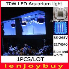 74.40$  Watch now - http://alim2c.worldwells.pw/go.php?t=1887181896 - 1pcs/lot 70W LED Aquarium Fish Tank Lamp Reef Coral Hood Blue White Grow Light in Pet Supplies, Fish & Aquariums, 74.40$