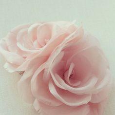 pale pink silk flowers... Delicate and sweet! #silk #flowers #bridal #weddings #hair #millinery #style #pink #sweet #pretty #beautiful #bespoke #bride #bridesmaid #handmade #floral #headpiece