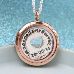 Green River Studio - Family Celebration Floating Charm Locket in Rose Gold (Plated), £77.00 (http://greenriverstudio.co.uk/family-celebration-floating-charm-locket-in-rose-gold-plated/)