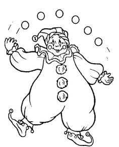 coloring pages of juggler
