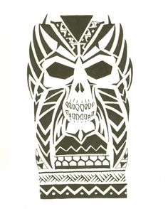 Maori Skull 01 by Mr-Disaster.deviantart.com on @deviantART