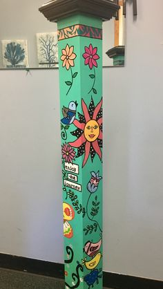 Peace Pole, Hand Painted Furniture, Whimsical, Projects To Try, Quilts, Drawings, Glass, Painting, Sketches