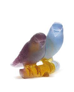 Daum Amber Lovebirds.