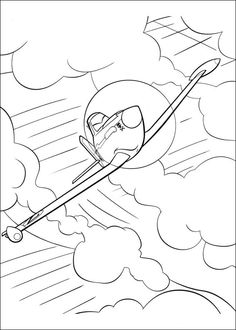 Free Coloring Pages Of Planes Picture 1