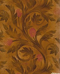 Serenity Scrolling Leaves Antique Honey Gold